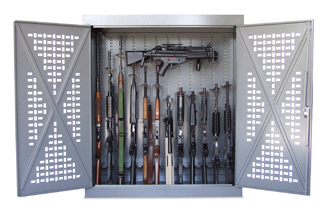 Universal weapons cabinets store rifles shotguns handguns or